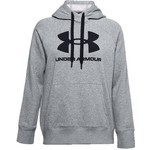 Under Armour Kapuca s kapuco Rival Fleece-GRY, Pulover s kapuco Rival Fleece-GRY | 1356318-035 | LG